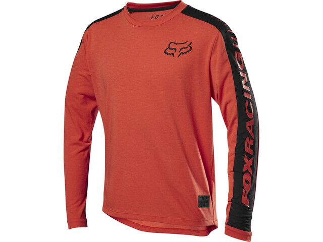 Fox Ranger Dri-Release Langarm Trikot Jugend orange crush